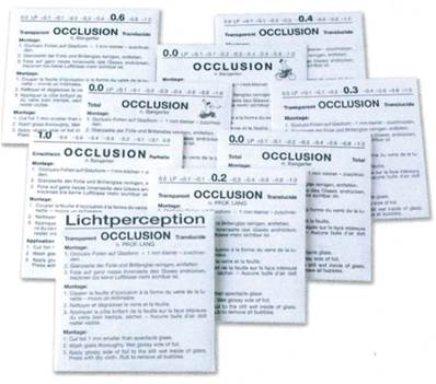 Feuille d'occlusion assortiment 10 pces